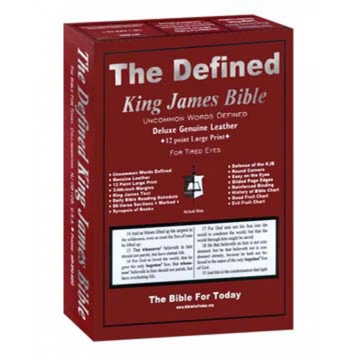 Defined King James Bible (Leather Large Print)