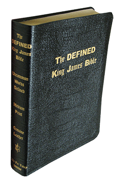 Defined King James Bible (Black Hardback)